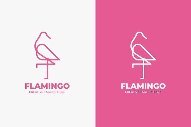 핑크 플라밍고 뷰티 모노라인 로고