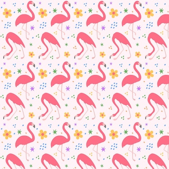 Pink flamingo pattern illustrated