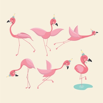 Pink flamingo set,  .