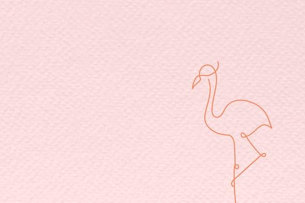 Розовый фламинго текстурированный фон вектор