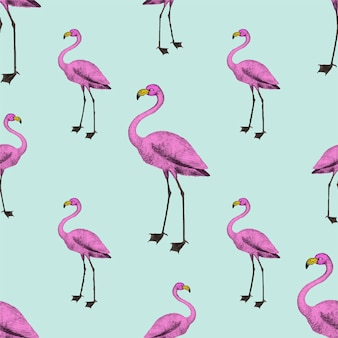 Pink flamingo wallpaper