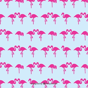 Pink flamingos pattern