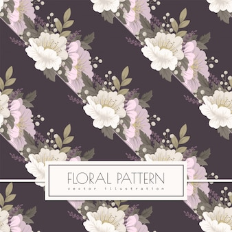 Pink floral background seamless pattern