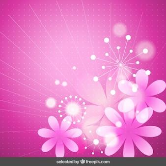Sfondo rosa floreale