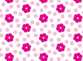 Pink floral flower pattern vector