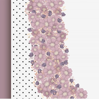 Pink floral frame background