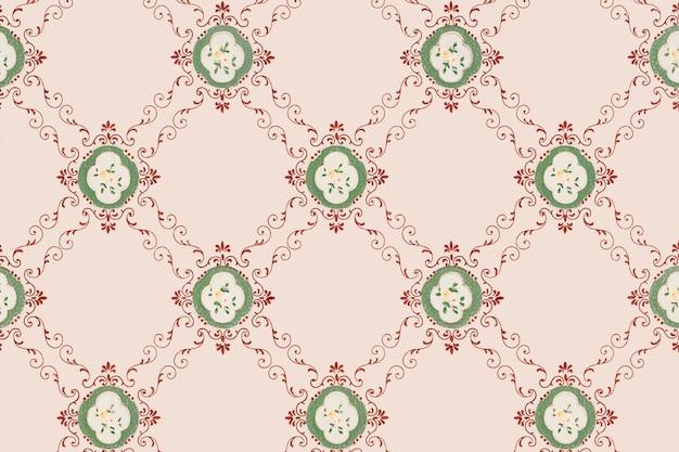Розовый цветочный узор фона