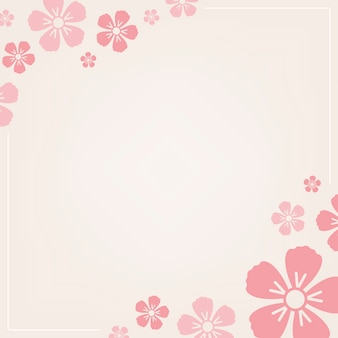 Pink floral pattern