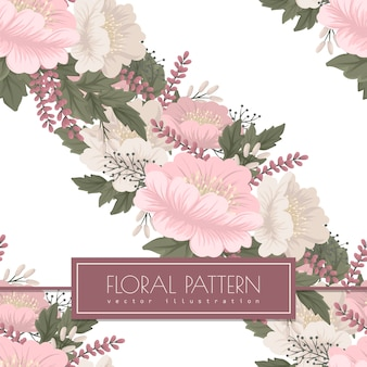 Pink floral  seamless pattern