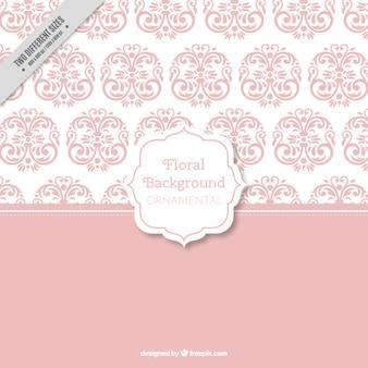 Pink floral wallpaper background