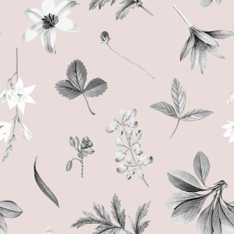 ピンクの花柄の壁紙デザイン