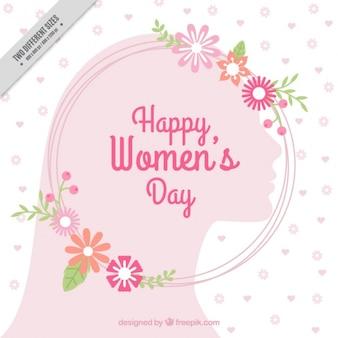 ピンクの花の女性の日の背景