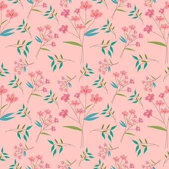 Розовый цветок и лист