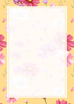 Pink flower background frame