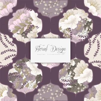 Pink flower background seamless pattern