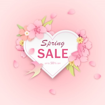 Pink flower discount label template