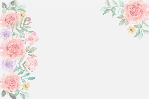 핑크 꽃 프레임 배경