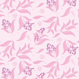 Pink flowers for love background