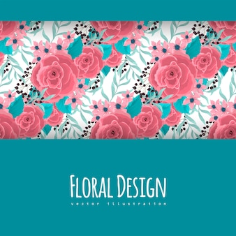 Pink flowers at mint green background