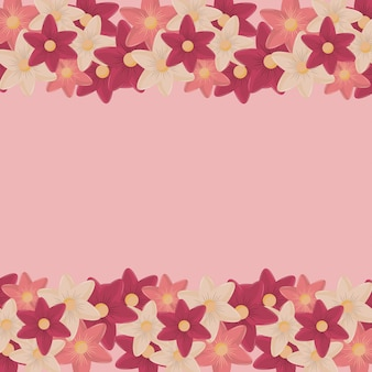 Pink flowers seamless pattern or background