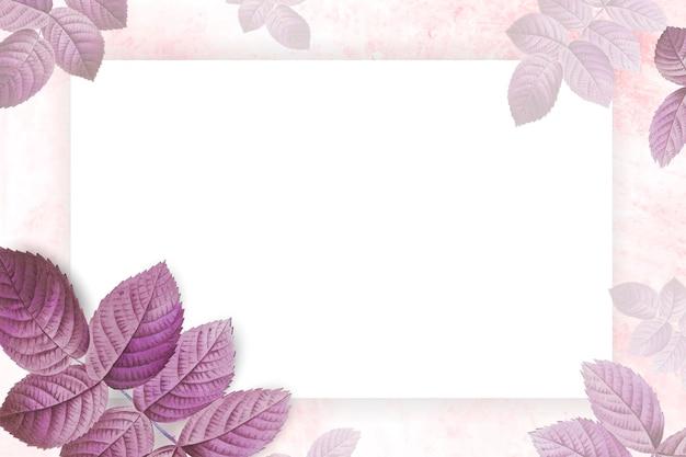 Cornice fogliame rosa