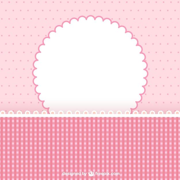 Cornice rosa per album