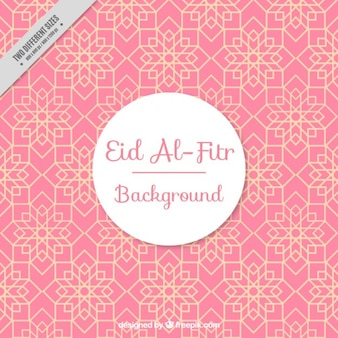 Pink geometric background of eid al-fitr