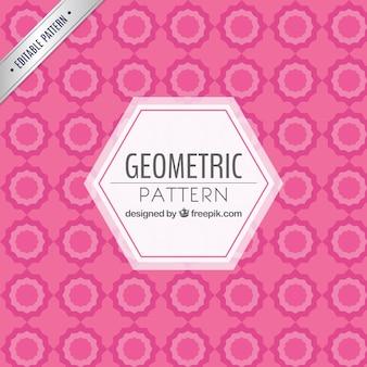 Розовый геометрический узор