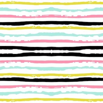 Pink geometric strip vector seamless pattern. fabric navy scandinavian design. blue color graphic wallpaper. american modern stripe pattern. simple mexican vector seamless pattern