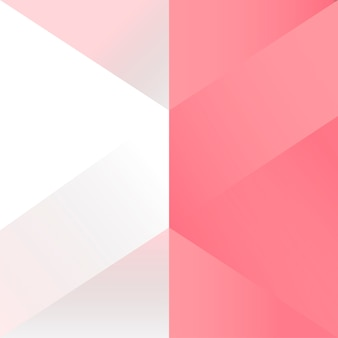 Pink geometrical background design vector