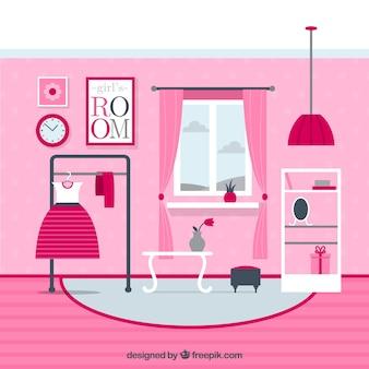 ピンクの女の子の部屋