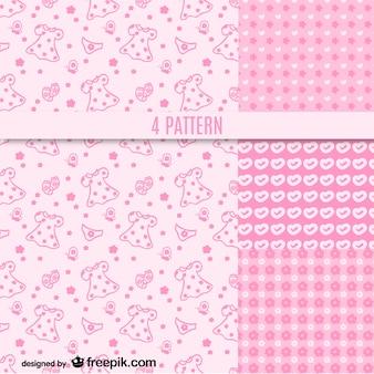 Pink girly patterns