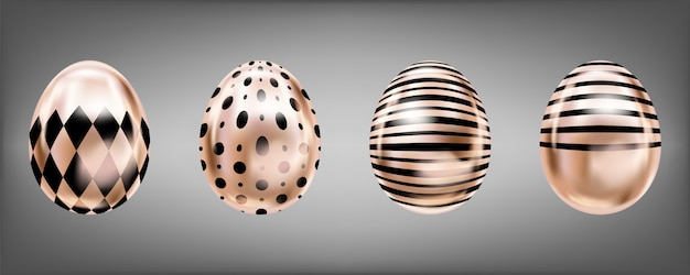Pink glance eggs with black rumb