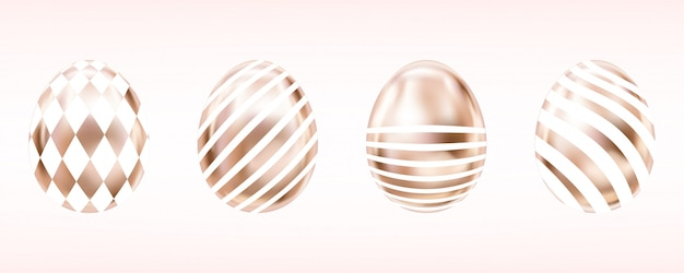Pink glance eggs with white domino and stripes