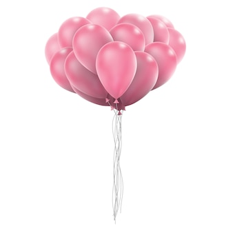 Pink glossy balloons.