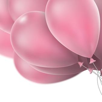 ピンクの光沢のある風船。