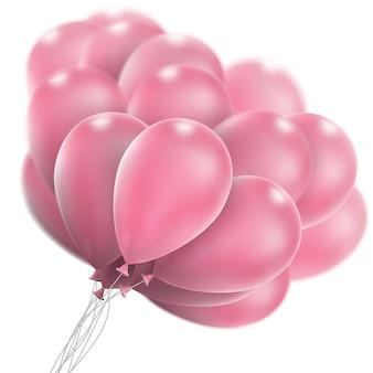 핑크 광택 풍선입니다.