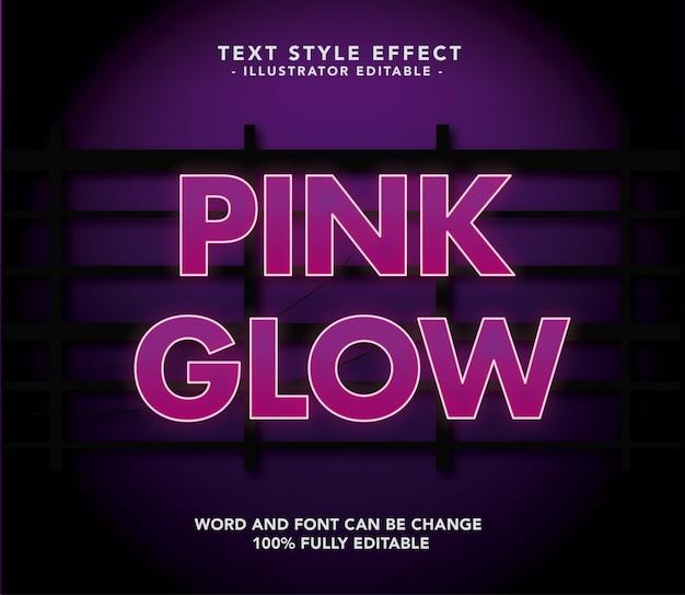 Эффект шрифта pink glow