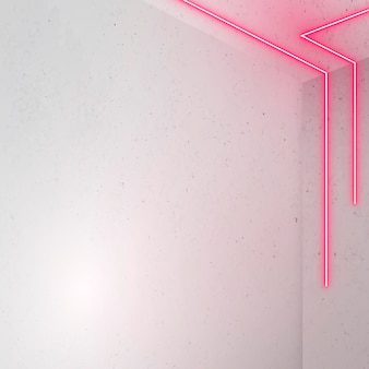 Pink glowing lines on light background