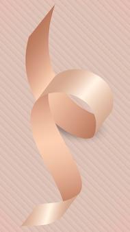 ピンクゴールドのリボン要素