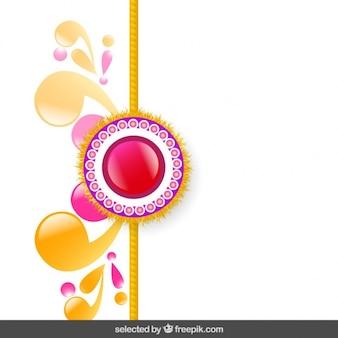 Pink and golden rakhi background