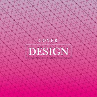 ピンクのグラデーションとパターンの背景、カバーデザイン。