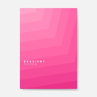 Pink gradient cover graphic design