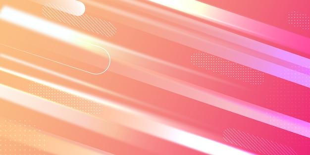 Pink gradient elegant geometric shape background