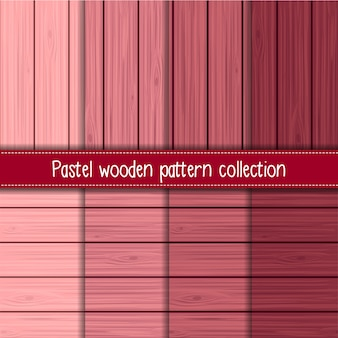 Pink gradient of shabby chic wooden seamless patterns