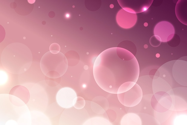 Pink gradient with bokeh effect wallpaper