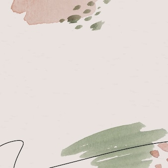 Pink and green watercolor patterned background template