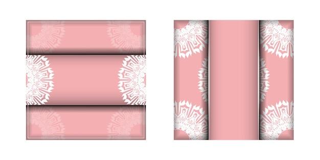おめでとうございます。ヴィンテージの白い飾りが付いたピンクのグリーティングカード。