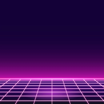 Pink grid neon patterned background