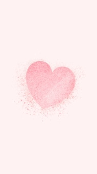 Pink heart banner